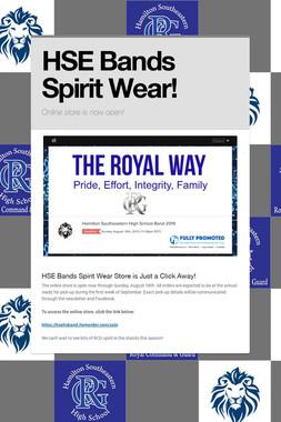 HSE Bands Spirit Wear!