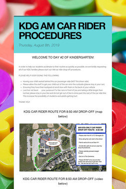 KDG AM CAR RIDER PROCEDURES