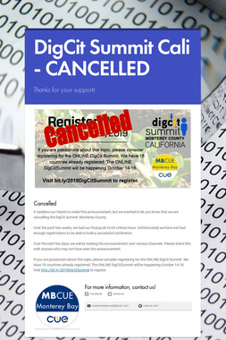 DigCit Summit Cali - CANCELLED