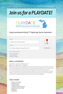 Join us for a PLAYDATE!