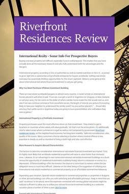 Riverfront Residences Review