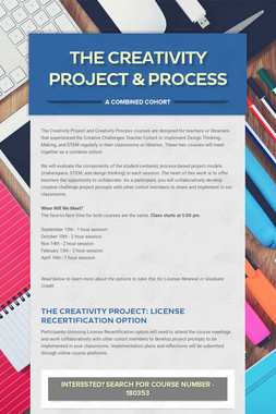 The Creativity Project & Process
