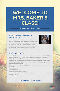 Welcome to Mrs. Baker's Class!