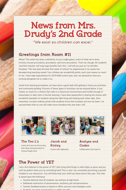 News from Mrs. Drudy's 2nd Grade