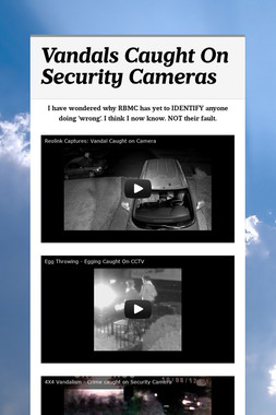 Vandals Caught On Security Cameras