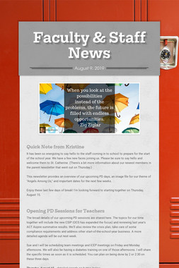 Faculty & Staff News