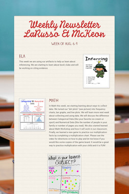 Weekly Newsletter LaRusso & McKeon