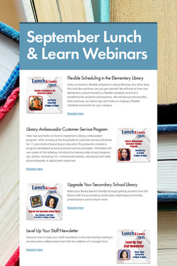 September Lunch & Learn Webinars