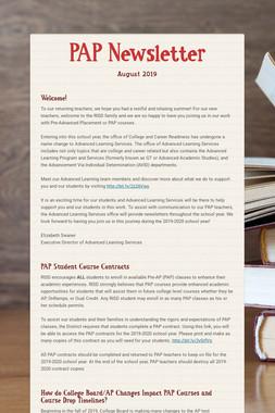 PAP Newsletter