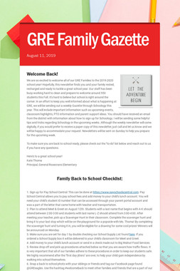 GRE Family Gazette