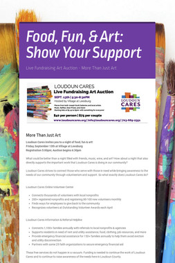 Food, Fun, & Art: Show Your Support
