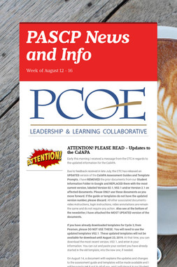 PASCP News and Info