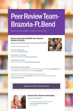 Peer Review- Brazoria Fort Bend