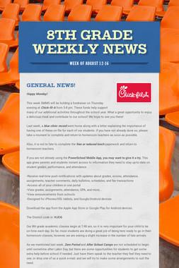 8th Grade Weekly News