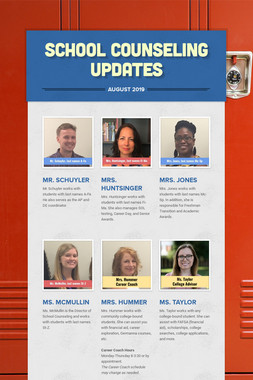 School Counseling Updates