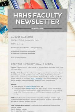 HRHS Faculty Newsletter