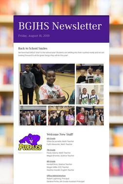 BGJHS Newsletter