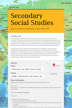 Secondary Social Studies