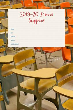 2019-20 School Supplies