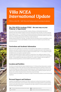 Villa NCEA International Update