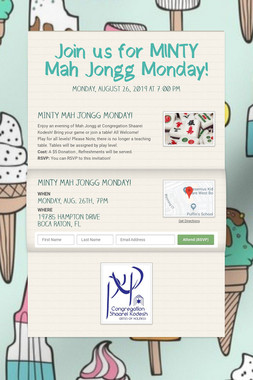 Join us for MINTY Mah Jongg Monday!