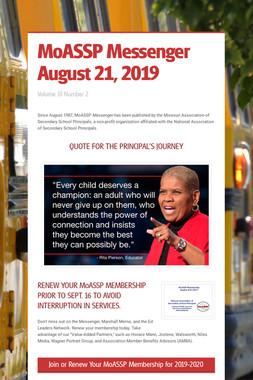 MoASSP Messenger August 21, 2019