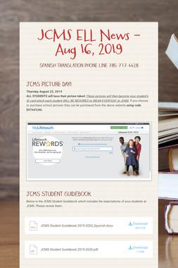 JCMS ELL News - Aug 16, 2019