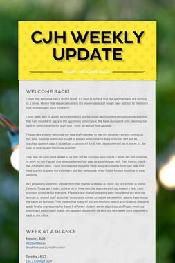 CJH Weekly Update