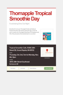 Thornapple Tropical Smoothie Day