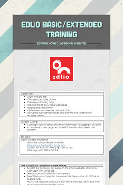 Edlio Basic/Extended Training