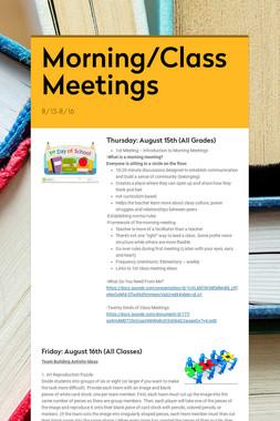 Morning/Class Meetings