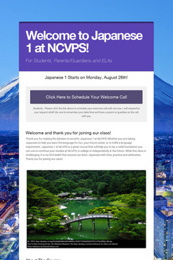 Welcome to Japanese 1 at NCVPS!