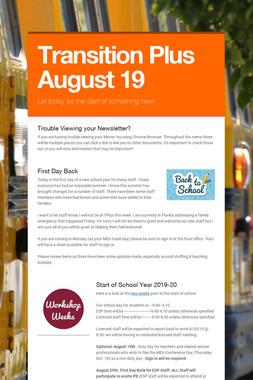 Transition Plus   August 19