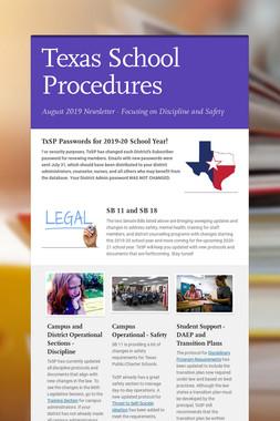 Texas School Procedures