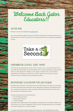 Welcome Back Gator Educators!!