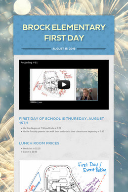 Brock Elementary First Day