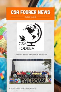 CSA Fodrea News