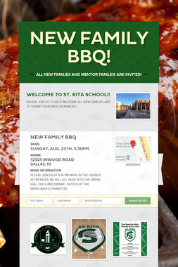 NEW FAMILY BBQ!