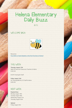 Helena Elementary    Daily Buzz