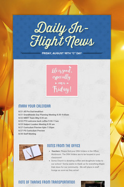 Daily In-Flight News