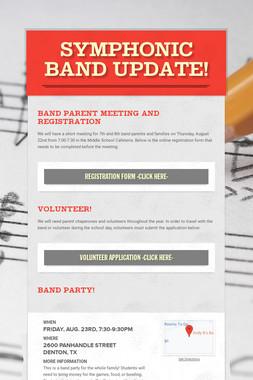 Symphonic Band Update!