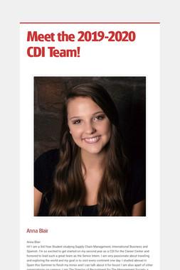 Meet the 2019-2020 CDI Team!