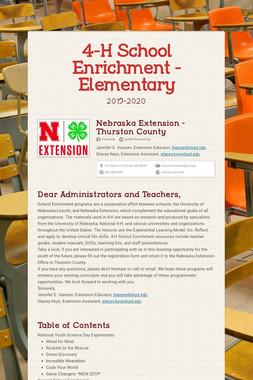 4-H School Enrichment - Elementary