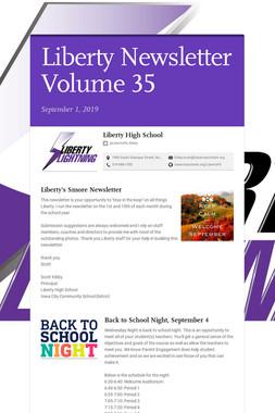 Liberty Newsletter Volume 35