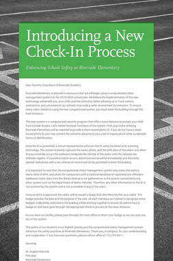 Introducing a New Check-In Process