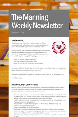 The Manning Weekly Newsletter