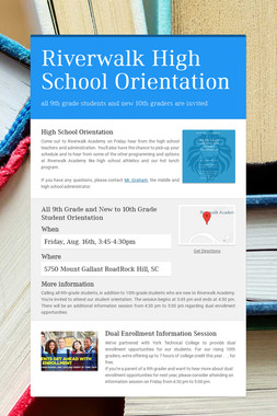 Riverwalk High School Orientation