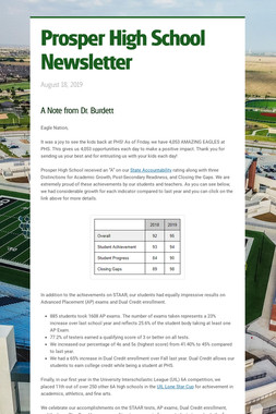 Prosper High School Newsletter