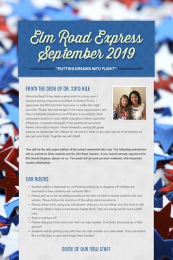 Elm Road Express  September 2019