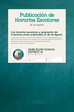 Publicación de Horarios Escolares